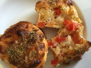 Muffins salés tomate poivron