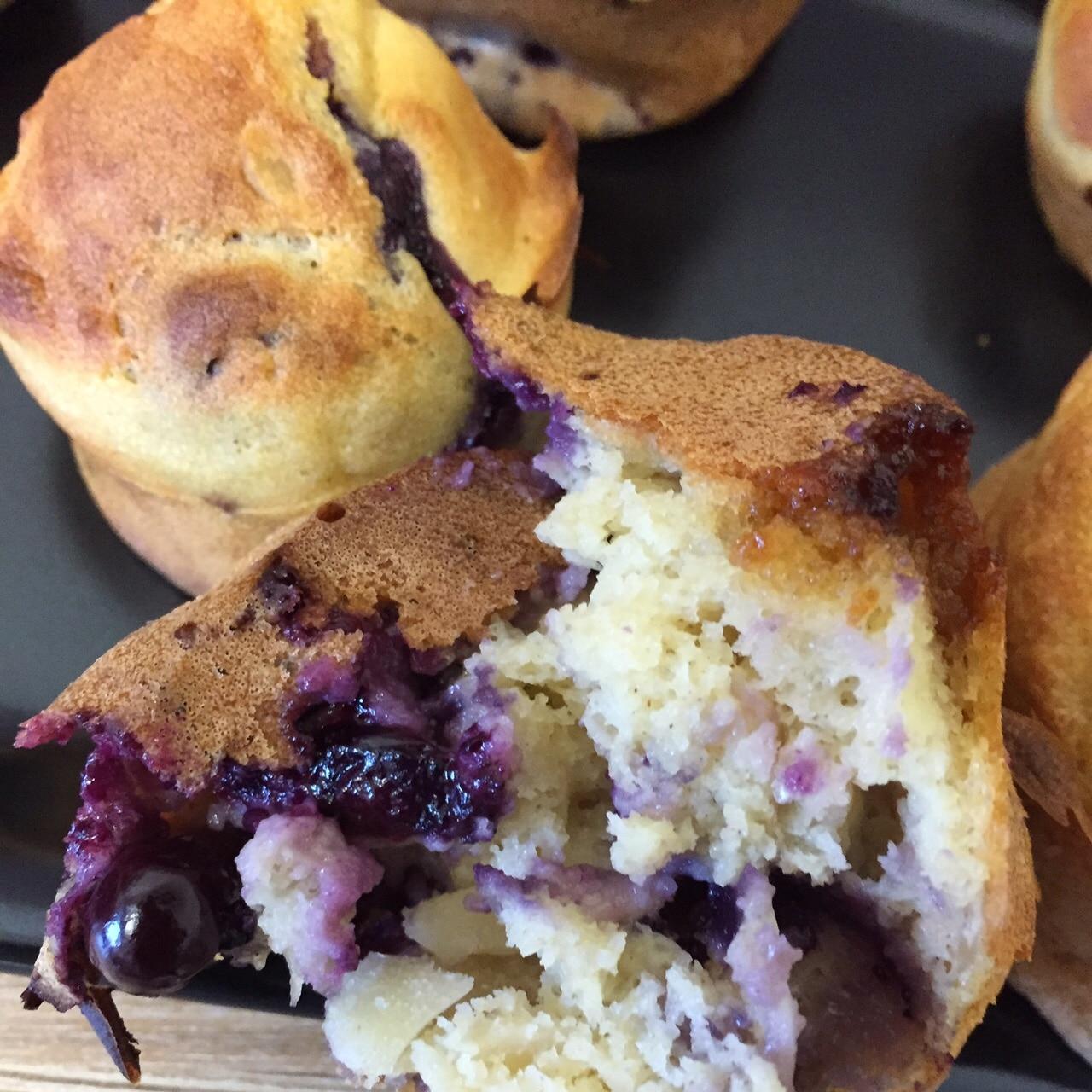 muffins légers aux myrtilles