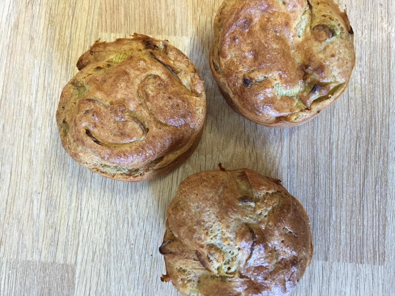 muffins poireaux oignons pignons