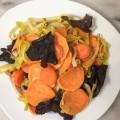 wok patate douce poireaux