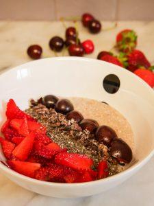 Porridge sans gluten aux flocons de sarrasin