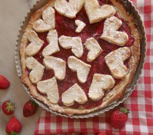 Tarte fraises coeur