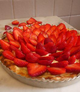 tarte fraises vanille
