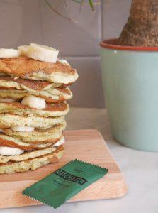 pancakes banane matcha