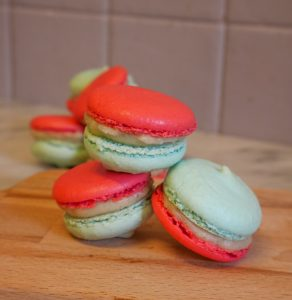 macarons tricolores vanille