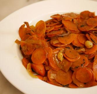 Carottes au jus d'orange