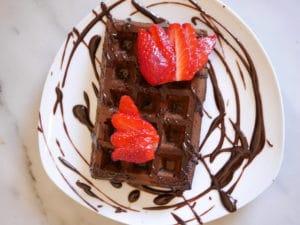 Gaufres healthy chocolat