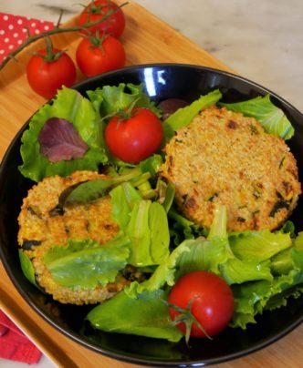 galettes quinoa courgette