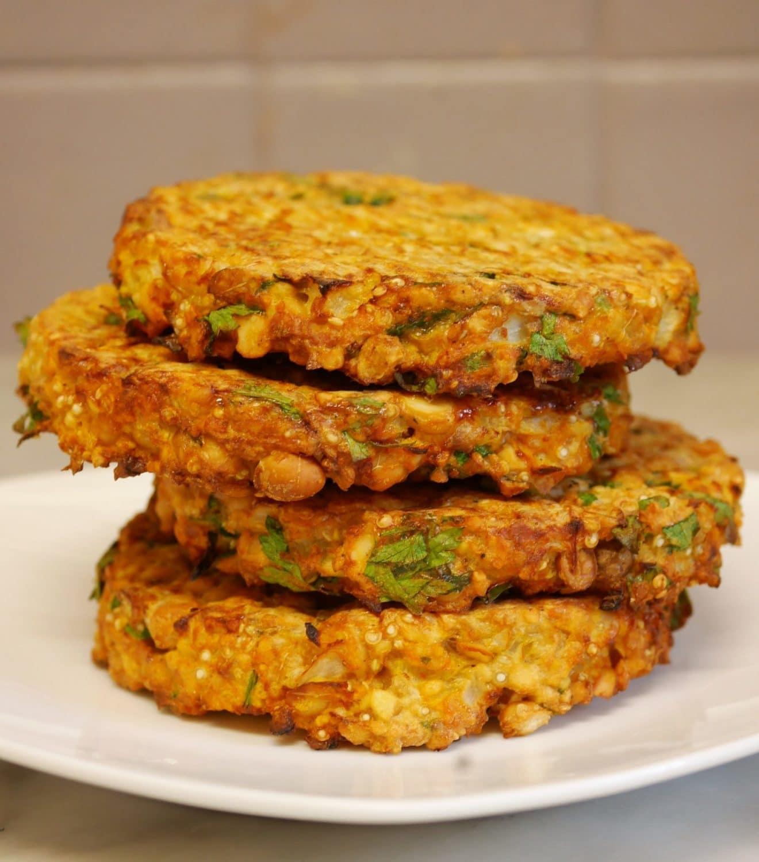 galettes pois chiches quinoa