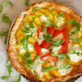 tarte pêches tomates